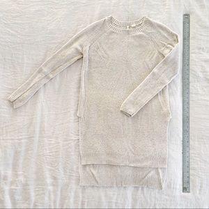 Long beige Anthropologie sweater